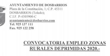 Convocatoria empleo zonas rurales deprimidas 2020